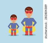 dad and son dressed as a... | Shutterstock .eps vector #282804389