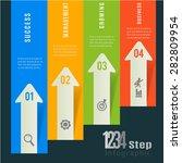 abstract 3d modern template... | Shutterstock .eps vector #282809954
