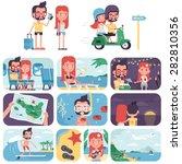 island vacation | Shutterstock .eps vector #282810356