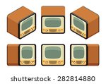 isometric retro tv sets. the... | Shutterstock .eps vector #282814880