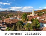 Colonial Town Cityscape Of...