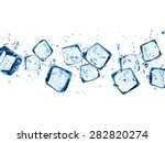 Falling Ice Cubes In Water...