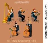 string instrument musicians... | Shutterstock .eps vector #282821294