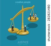justice and law  judgment and... | Shutterstock .eps vector #282821480