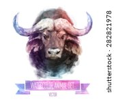Vector Set Of Animals. Bull...