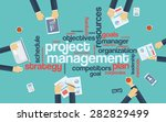 project management infographics ... | Shutterstock .eps vector #282829499
