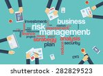 risk management infographics... | Shutterstock .eps vector #282829523