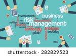 risk management infographics... | Shutterstock .eps vector #282829523