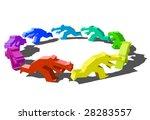 chasing businessman | Shutterstock .eps vector #28283557