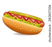 hot dog | Shutterstock . vector #282837206