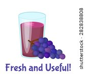 juice vector illustration....   Shutterstock .eps vector #282838808