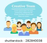 creative team concept. people... | Shutterstock .eps vector #282840038