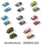 vector isometric icon set... | Shutterstock .eps vector #282841103