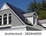 solar panel installation on a... | Shutterstock . vector #282846830