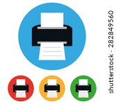 printer icons set  vector symbol