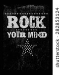 rock print with slogan and... | Shutterstock .eps vector #282853124