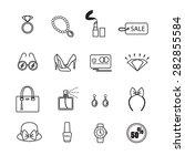 fashion icon set. | Shutterstock .eps vector #282855584
