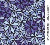 seamless flower background | Shutterstock .eps vector #282862094