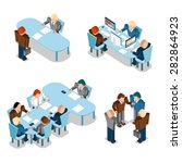 human resources and business... | Shutterstock .eps vector #282864923