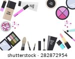 cosmetics on the white... | Shutterstock .eps vector #282872954