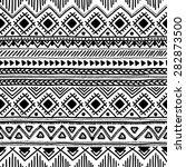 seamless ethnic pattern. black... | Shutterstock .eps vector #282873500