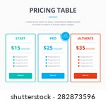 pricing table template with... | Shutterstock .eps vector #282873596
