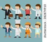 cartoon businessman set | Shutterstock .eps vector #282874910