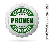 clinically proven icon   Shutterstock .eps vector #282878450