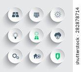 solar energy round modern icons ...