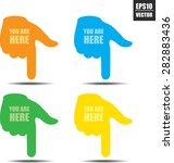 you are here sign with colorful ... | Shutterstock .eps vector #282883436