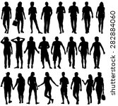 black silhouettes of beautiful... | Shutterstock .eps vector #282884060