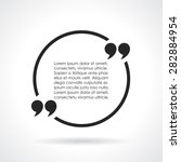 quote text bubble | Shutterstock .eps vector #282884954