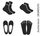socks vector icon   Shutterstock .eps vector #282885293