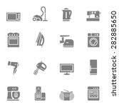 set of  home appliances and... | Shutterstock . vector #282885650