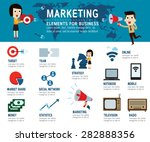 marketing concept. infographic... | Shutterstock .eps vector #282888356