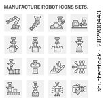 robot or robotic icon such as... | Shutterstock .eps vector #282900443