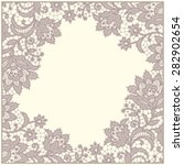 lace frame. doily. floral... | Shutterstock .eps vector #282902654