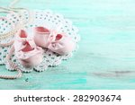 Cute Toddler Shoes On Wooden...