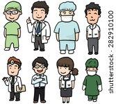 vector set of medical staff | Shutterstock .eps vector #282910100