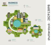 infographic business gear shape ... | Shutterstock .eps vector #282913898