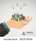 infographic business concept.... | Shutterstock .eps vector #282913904