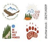 set of wilderness hand drawn... | Shutterstock .eps vector #282914009