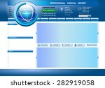 website template design.... | Shutterstock .eps vector #282919058
