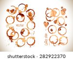 coffee paint stains  splashes... | Shutterstock .eps vector #282922370
