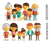 vector set of characters in a... | Shutterstock .eps vector #282925289