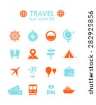 vector flat icon set   travel  | Shutterstock .eps vector #282925856