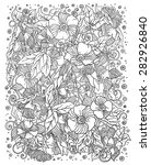 ethnic floral zentangle  doodle ... | Shutterstock .eps vector #282926840