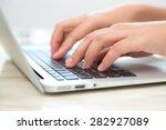 closeup of business woman hand...   Shutterstock . vector #282927089