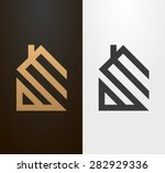 simple line house logo  icon.  | Shutterstock .eps vector #282929336