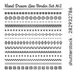 collection of hand drawn line... | Shutterstock .eps vector #282932786